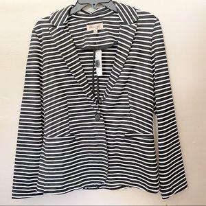 Philosophy Black White Stripe Blazer Jacket